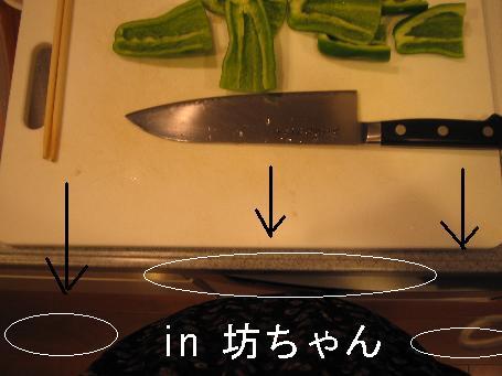 腹とキッチンの間