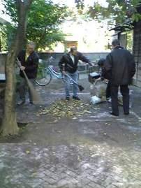8-11庭掃除