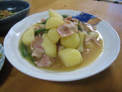 IMG_7703ジャガイモとベーコンの煮物