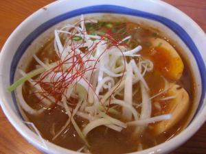 08070613常勝軒伊勢崎・つけ麺スープ