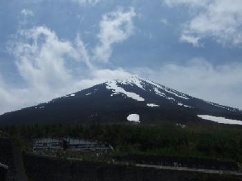 6/14 5合目河口湖口駐車場からの富士山