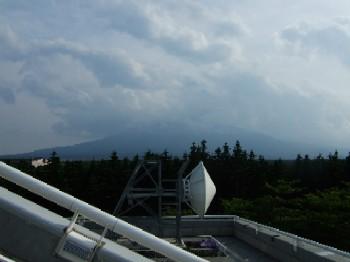 6/14 道の駅富士吉田にある富士山レーダー