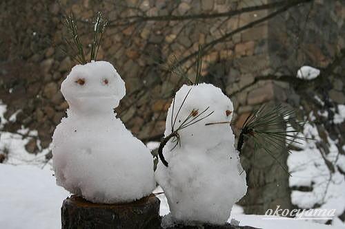 雪灯篭 雪だるま