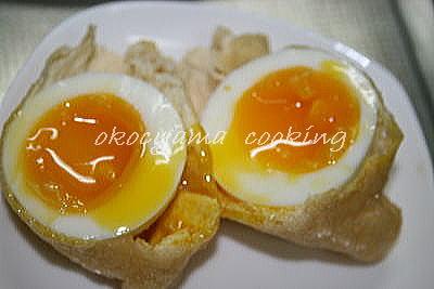 焼きうどん 半熟卵