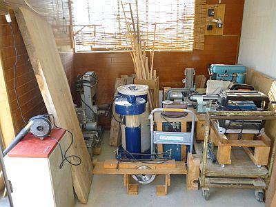 こんなに有ったんだ!工作室に木工機械・・・ドキン