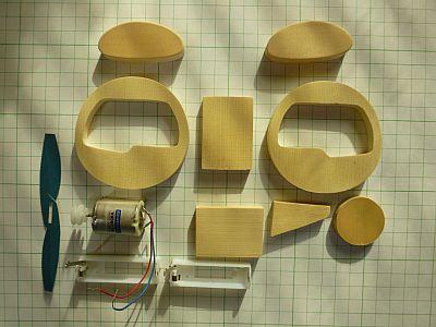 材料一式。 厚紙でも 十分作れる。