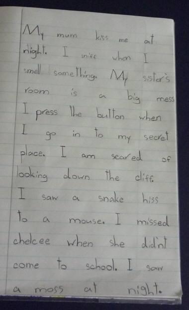 スズ 英語のノート