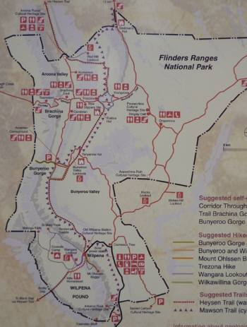 Flinders Ranges 地図