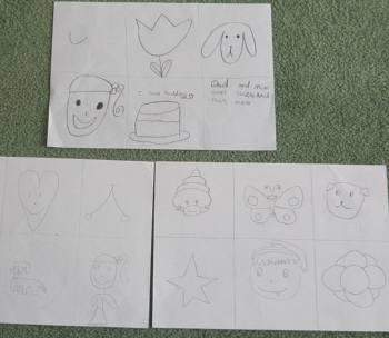 子ども達が書いた図案