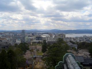 松江城からの景色