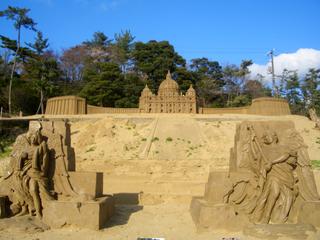 鳥取砂丘 彫刻