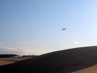 鳥取砂丘 飛行機