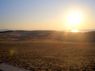 鳥取砂丘 夕日