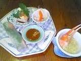 蟹とふかひれスープ&3種の前菜.jpg