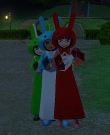 ウサギの行進