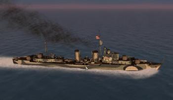 ここで駆逐艦の登場です