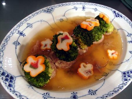 ブロッコリー肉詰め1