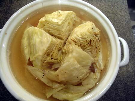 キャベツと鶏肉の中華蒸し