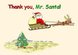 「サンタさん ありがとう」英語版