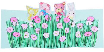 花畑の動物たち