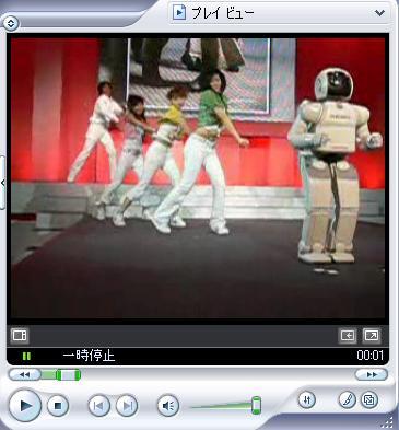ダンサーとASIMO