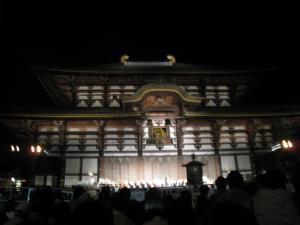 大仏殿でコンサート
