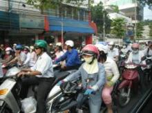 バイクの群れ