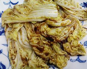 白菜の生姜しょうゆ焼き