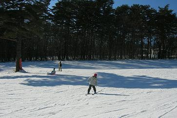 スキーするMくん
