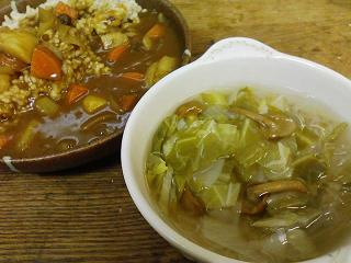 春キャベツと春雨のスープ