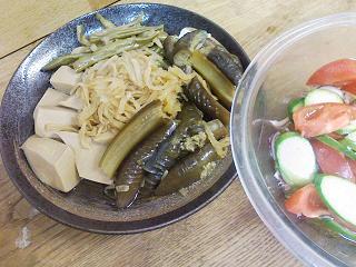 ナスと高野豆腐