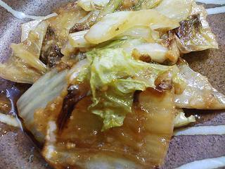 白菜生姜焼き