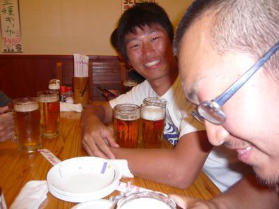 成田先輩・Domi 試合後の飲み会