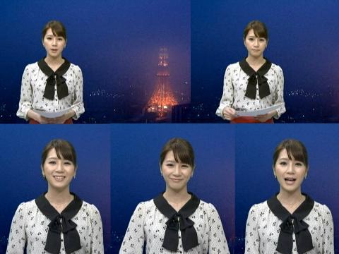 植田萌子 雪にけむる東京タワー