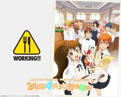 moe 173470 inami_mahiru satou_jun shirafuji_kyouko souma_hiroomi takanashi_souta taneshima_poplar todoroki_yachiyo waitress wallpaper working!!