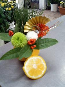 デコポンの正月アレンジ
