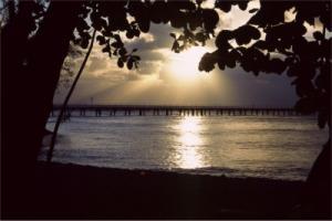 グリーン島の夕日