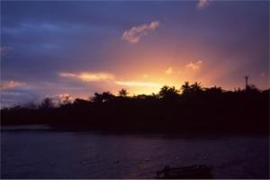 グリーン島の朝日
