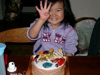 さくら4歳誕生日