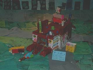 あらし5歳作品展「のりもの」