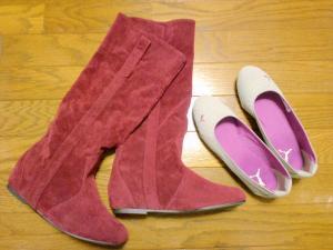 ブーツ&ペタンコ靴