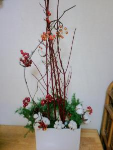 2011クリスマス 活け直し