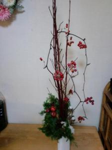 2011クリスマス 活け直し2