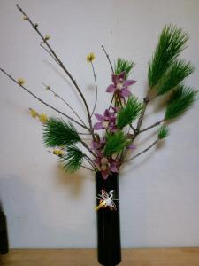 2011.12.27お正月花、活け直し