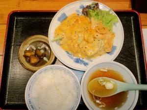 エビマヨ定食