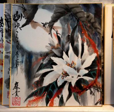 201112 水墨画 月下美人 誌上展