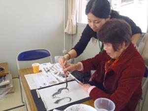 201201_東北ボランティア 水墨画講座06