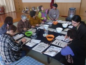 201201_東北ボランティア 水墨画講座07