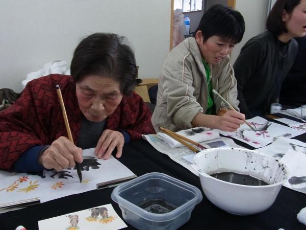 201201_東北ボランティア 水墨画講座08