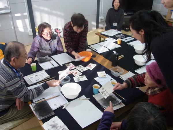 201201_東北ボランティア 水墨画講座09